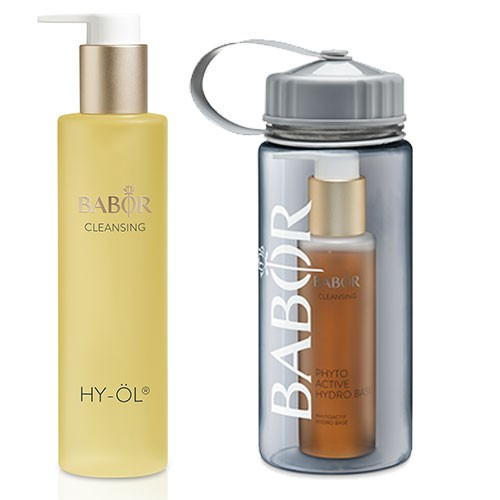 Babor Cleansing Hy-Öl Set Hydro Base mit Trinkflasche 300ml