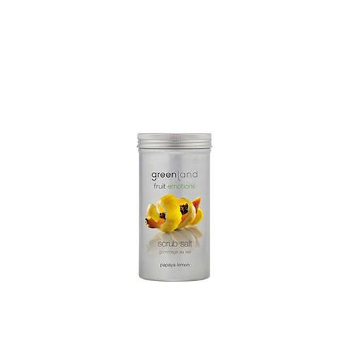 Greenland Fruit Emotions Scrub Salt Papaya & Lemon 400g
